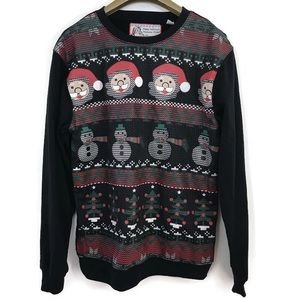Festive Long Sleeves Snowman Crew Neck Sweater